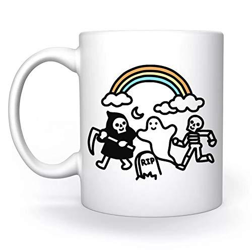 Spooky Pals Blanco Taza White Mug Cup