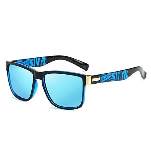 Gafas De Sol Polarizadas Hombres Mujeres Gafas De Sol Retro Protección UV400 Marco TAC Deportes Al Aire Libre Golf Ciclismo Pesca Senderismo Gafas,Azul