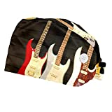 Wanlipous Musical Instruments GuitarUnisex Working Hat with Button(2pcs) Adjustable Tie Back with Sweatband One Size