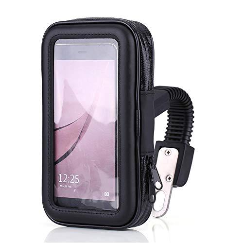 Gorgeri wasserdichte Motorrad Handyhülle Tasche GPS Halterung Motorradhalterung Halterung Halterung für Handy/GPS/MP4 und andere Geräte 360 Grad Drehung.(XL)