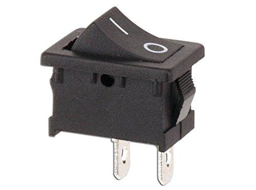 Mini Wippenschalter einpolig Ein Aus Wippen Schalter Taste 1-polig Wippschalter eckig schwarz