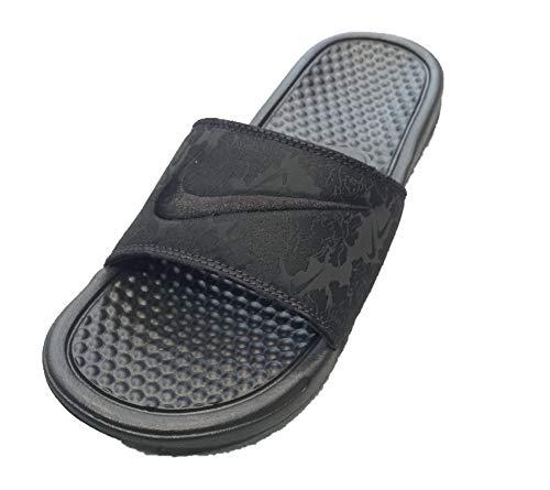 Nike Wmns Benassi JDI TXT Se, Zapatos de Playa y Piscina Mujer, Multicolor (Black/Black/Oil Grey 000), 35.5 EU