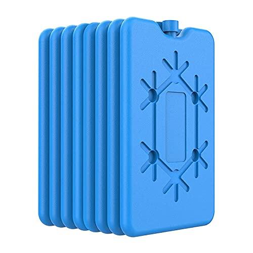 Kuinayouyi Paquetes de hielo para fiambrera – Paquetes de congelador ultrafinos reutilizables – Paquetes fríos de larga duración para refrigeradores, mantener la comida fresca, paquete de 8