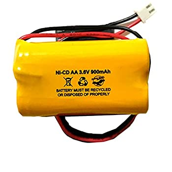 Unitech AA900MAH 3.6V 6200RP 6200-RP Exitronix 10010037 Lowes 253799 TOPA 3.6v 900mAh Ni-CD Battery Pack Replacement for Exit Sign Emergency Light Fire Batteryhawk LLC