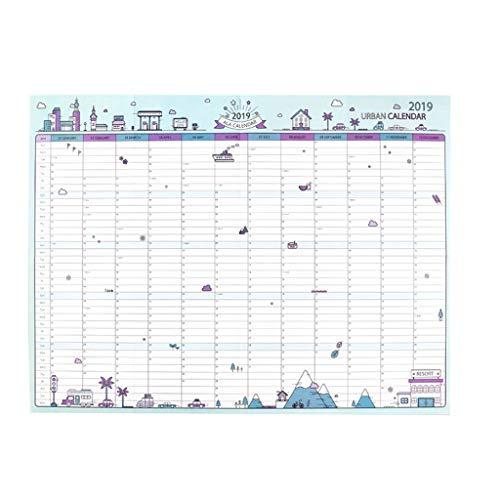 Año Nuevo Calendario semanal mensual del planificador del Orden del día del Calendario de Escritorio Organizador Programa Tabla Calendario Planificador multifunción Regalo (Color : C)
