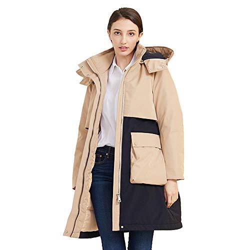 ZHHAOXINPA Down jas, dames Designer Winter gevoerde Parka Gewatteerde Jas Hooded Lange Dames Jas