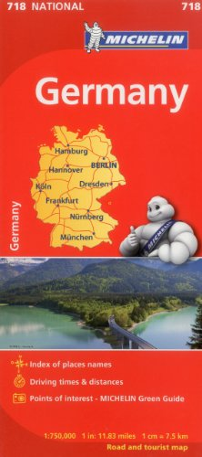 Download Michelin Germany/ Allemagne: 718 National, Road and Tourist Map 206717083X
