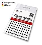 SPIONAGEABWEHR - 66 STK. CAMSTICKER® Ø4mm - schwarz glänzend ++++ komplett rund ohne die...