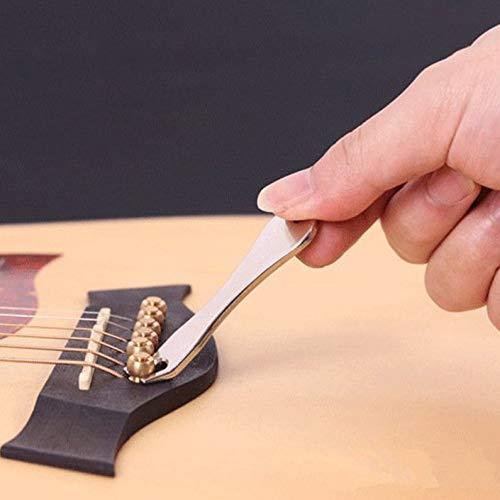 deYukiko Gitaarsnaaimachine puller bridge pin-remover mobiele telefoon tool zilver