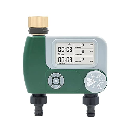 Controlador de riego del jardín de temporizador de agua automático Controlador de riego del controlador de la válvula programable del controlador de la manguera del grifo del tiempo ( Color : Red )