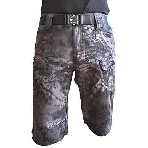 Pantalones Cortos Tipo Cargo para Hombre, Verano, Informales, cómodos, Transpirables, para Entrenamiento al Aire Libre, Pantalones Cortos de Entrenamiento con múltiples Bolsillos 4XL