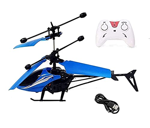 Umang Enterprise™ Flight Induction Exceed Remote Control and Hand Sensor Charging Helicopter Toys with 3D Light Toys for Boys Kids Indoor & Outdoor Flying (Multicolour)