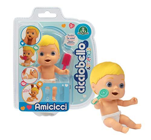 Cicciobello Cicciobello-CC002000 Amicicci, bambino con espressioni divertenti e accessori, modelli casuali, giocattolo per bambini dai 3 anni, CC002, CC002000, multicolore