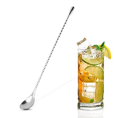Cucchiaio da cocktail in metallo da 12 pollici, cucchiai da miscelazione in acciaio inossidabile per kit da cocktail