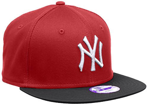 New Era Jungen Baseball Cap Mütze MLB 9 Fifty Block NY Yankees Snapback Rot (Scarlet/Black), One size, 10880041