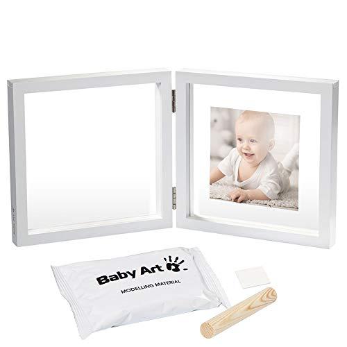 Baby Art My Baby Style Simple Porta Foto Con Kit Impronta Calco Mano O Piede Del Neonato, Regalo Nascita O Bomboniera Per Battesimo, Sfondo Trasparent