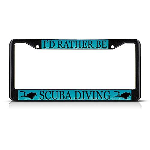 Fastasticdeals I'd Rather Be Scuba Diving License Plate Frame Tag Holder Cover