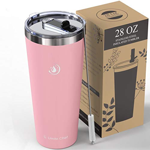 Umite Chef 28oz Tumbler Insulated Stainless Steel Travel Mug with Leakproof...