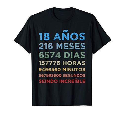 Divertido regalo de 18 cumpleaños 18 años Chicos Chicas Camiseta