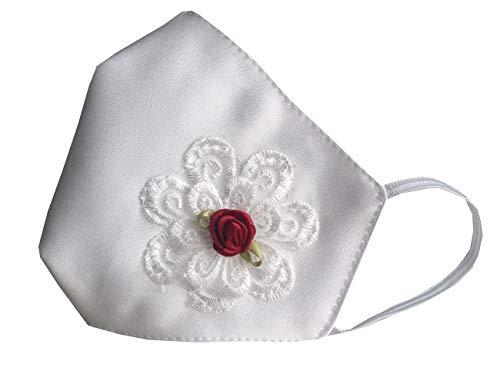 Accesorio comunión niña blanca con flor encaje