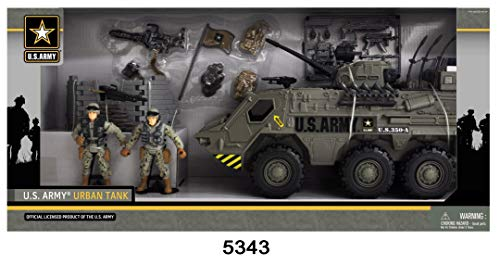 United States Army Tank Playset with Light and Sound