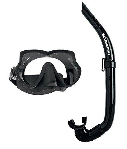 SCUBAPRO Devil Tauchermaske mit Apnea Falt-Schnorchel
