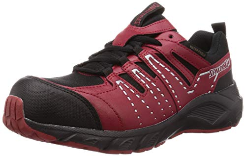 [スポルディング] 安全靴 作業靴 JSAA A種先芯 防水 幅広 メンズ 6E JIN 3670 レッド 26.0 cm G