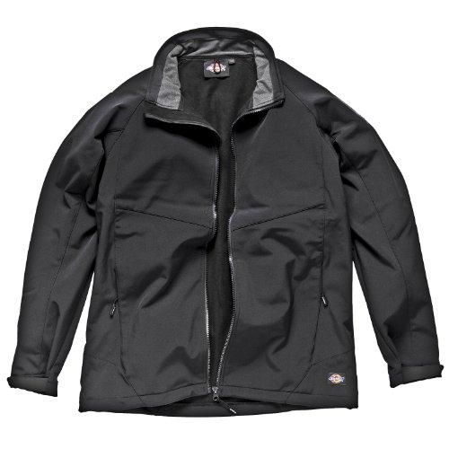 """Dickies Mens Water Resistant Softshell Jacket/Workwear (52-54"""" Chest) (Black)"""