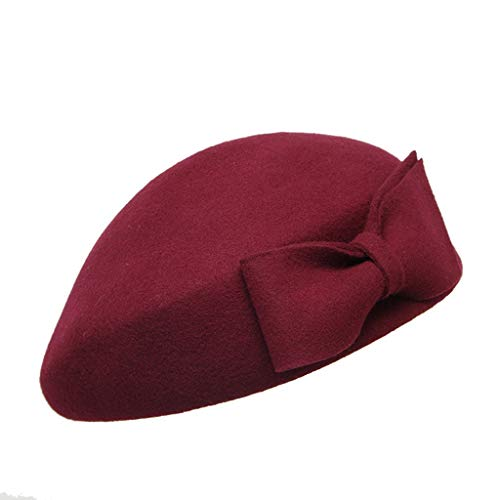 Huacat Modischer Leder Malerhut Schwarz Reitmütze Männer Frauen Barett Retro Achteckige Kappe Herbst Winter Ballonmütze