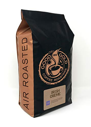 Irish Cream Coffee Beans, Flavored Coffee, 5 Pound Bag – Good As Gold Coffee Roasters