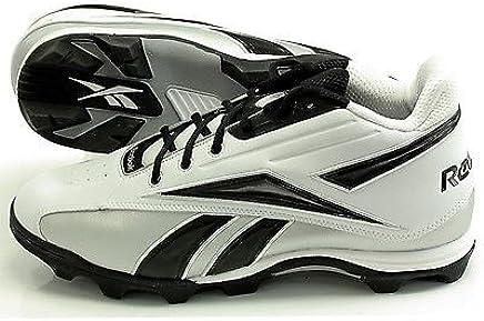 425bfc94d Reebok NFL THORPE MID 20-137658 ADULT MALE FOOTBALL CLEATS 15M White Black