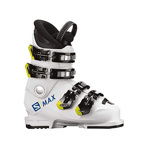 SALOMON Botas Alpinas S/MAX 60T L esquí, Niños, WH/Acid Gree, Sistema Tallas...