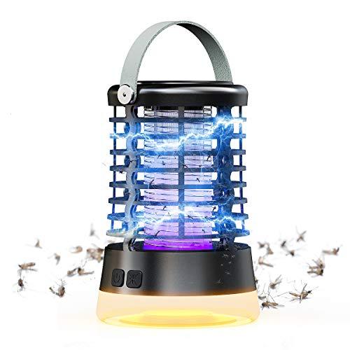 Lampe Anti-Moustique, TOGAVE UV Tueur d'Insectes Électrique Anti Insectes Répulsif 3 Modes de...