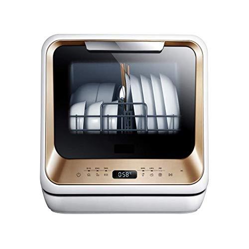 Barir Lavavajillas portátil - encimera Pequeño Secadora Compacta Plato for Apartamento, RV, Capacidad Oficina, Cocina-5L Configuración - Blanco