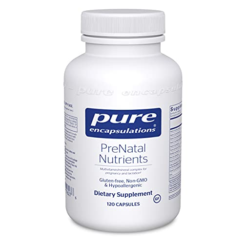 Pure Encapsulations PreNatal Nutrients | Multivitamin Supplement to Support Pregnancy, Lactation, and Maternal/Fetal Well-Being* | 120 Capsules