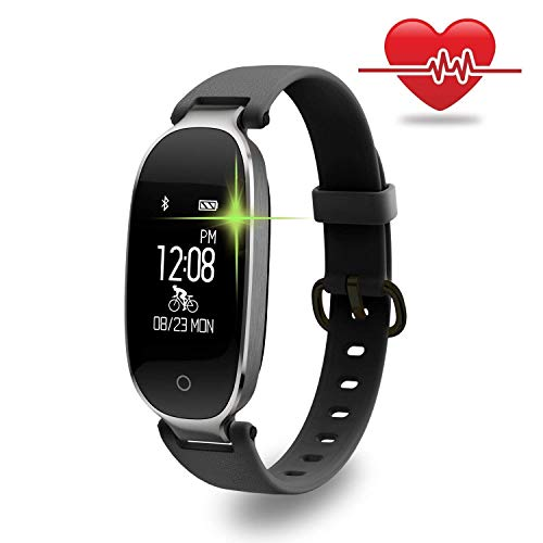 Affordable ZLLAN Fashion Smart Waterproof Sports Bracelet, Activity Tracker Watch with Heart Rate Monitor for Women and Men, Caller Information (Color : D)