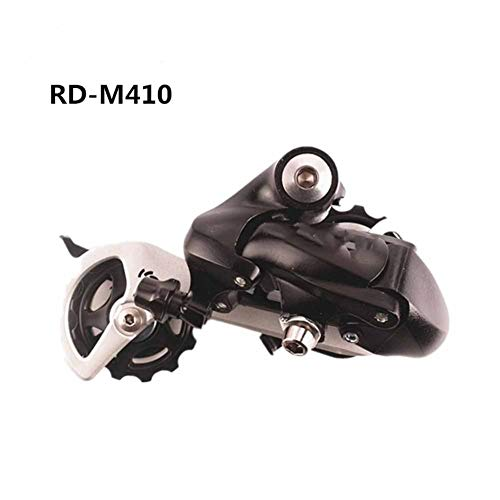 Transmisión de Bicicleta M410 De La Bicicleta MTB 7 8 Velocidad Cambio Trasero Negro Plata M410 Desviador For Bicicleta (Color : Black)