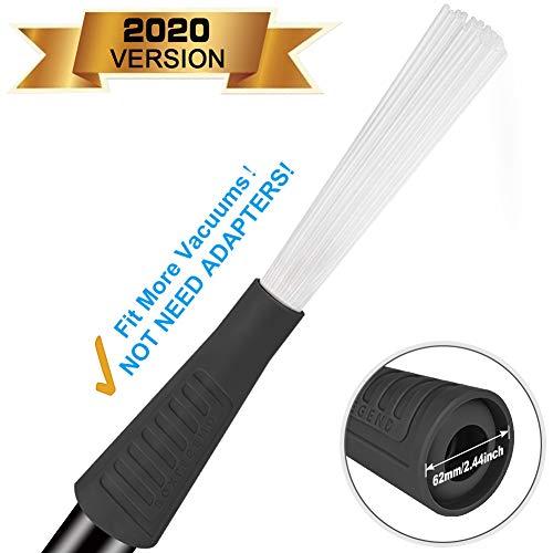 Staubsaugeraufsatz Staubsaugerbürste Dusty Brush Tiny Tube Universal Staubsauger Aufsatz Pinsel für Tastaturen Schubladen Auto Ecke geeignet Reinigungswerkzeuge für Mehr Vakuum(Schwarz)
