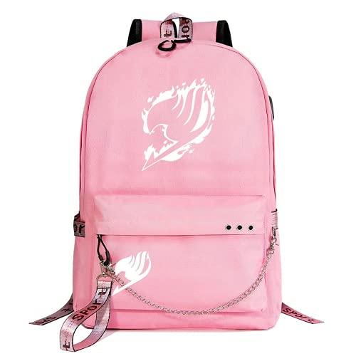 FAIRY TAIL Mochila, mochila escolar para adolescentes, EARTH LAND, Lucy Heartfilia, mochila de ocio para hombres y mujeres (F-T2,32 x 15 x 45 cm (17 pulgadas))