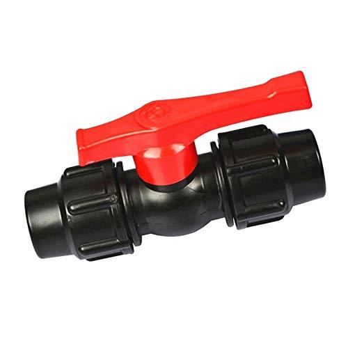 Válvula De Bola, Tubería De Agua Plástica Válvula Aisladora Rápida, Conector Tubo Válvulas Válvulas Accesorios (Color : Black, Size : 20mm)