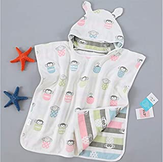 Print Yoga Mat Children'S Bath Towel Hooded Cartoon Monkey Coral Velvet Absorbent 瑜伽垫
