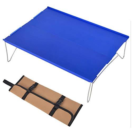 Josietomy - Mesa plegable para camping, de aluminio, con bolsa de almacenamiento, para pícnic en casa, fiesta