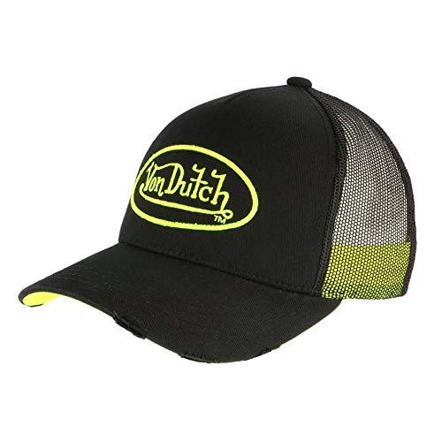 Von Dutch Neo - Gorra de béisbol, color negro y amarillo amarillo...