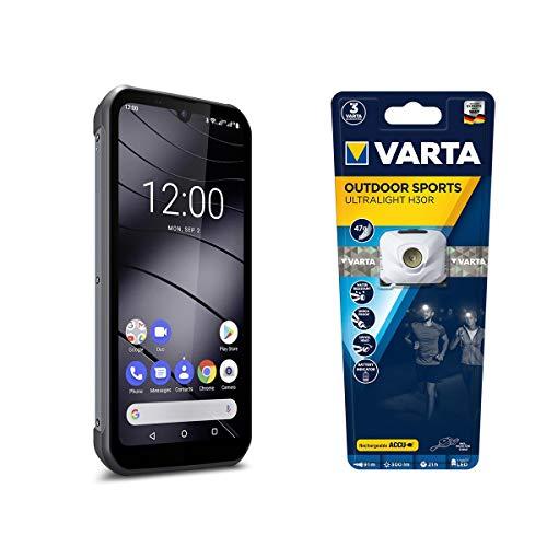 Gigaset GX290 - Outdoor Smartphone ohne Vertrag - wasserdicht, 32 GB Speicher, 3 GB RAM, Android 9 Pie, Titanium Grey inkl. Outdoor Sportslight