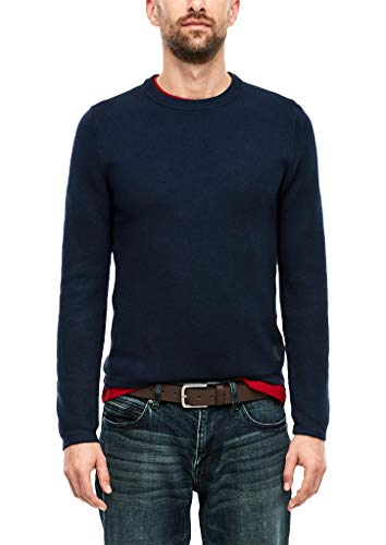 s.Oliver Herren 13.910.61.6907 Pullover, Blau (Fresh Ink 5952), Large (Herstellergröße: L)