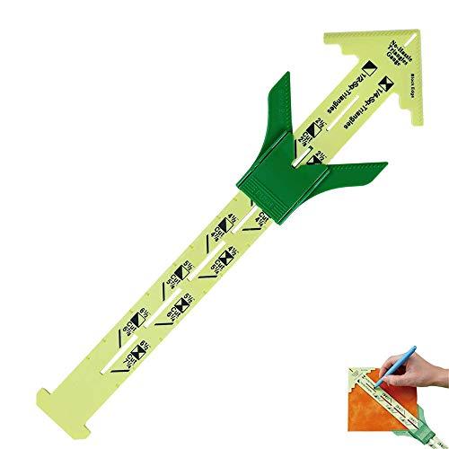Nählineal Messen, Lineal Clips, 5 In 1 Schieblehre, Nählineal Handmaß Schneidelineal, Patchwork Werkzeuglineal Maßlineal Werkzeug Professionelles Nähzubehör für Stricken, Basteln Nähen