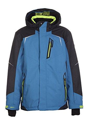 Killtec Yuro Jr Ski-jack voor jongens, functionele jas met capuchon en sneeuwvanger