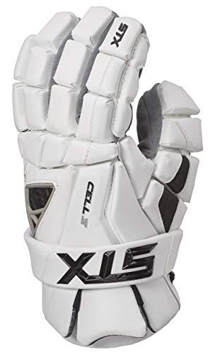 STX Lacrosse Cell 4 Gloves, White, Large