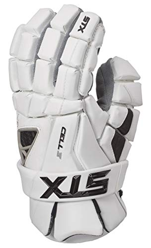 STX Lacrosse Cell 4 Gloves, White, Small