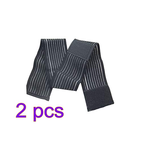 SUPVOX 2 Piezas Rodilleras elásticas Ajustable Vendas para Rodilla Soporte para Tobillo Envuelve para Hombres Mujeres Entrenamiento Gimnasio (Negro)